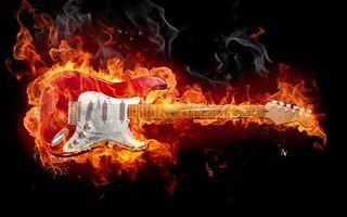 Бесплатные фото электрогитара,регуляторы,струны,гриф,пламя,огонь