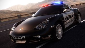 Photo free police car, porsche, flasher