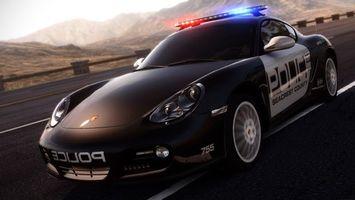 Фото бесплатно полицейская машина, порше, мигалка