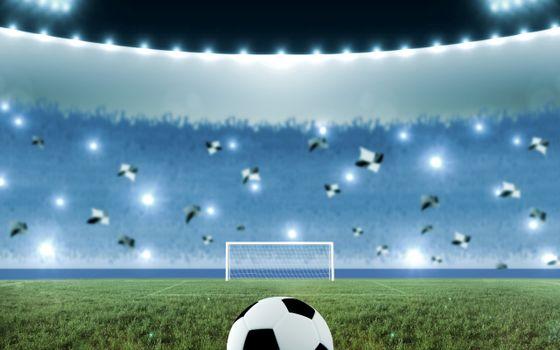 Бесплатные фото футбол,поле,мяч,ворота,трибуны,болельщики,флаги,вспышки