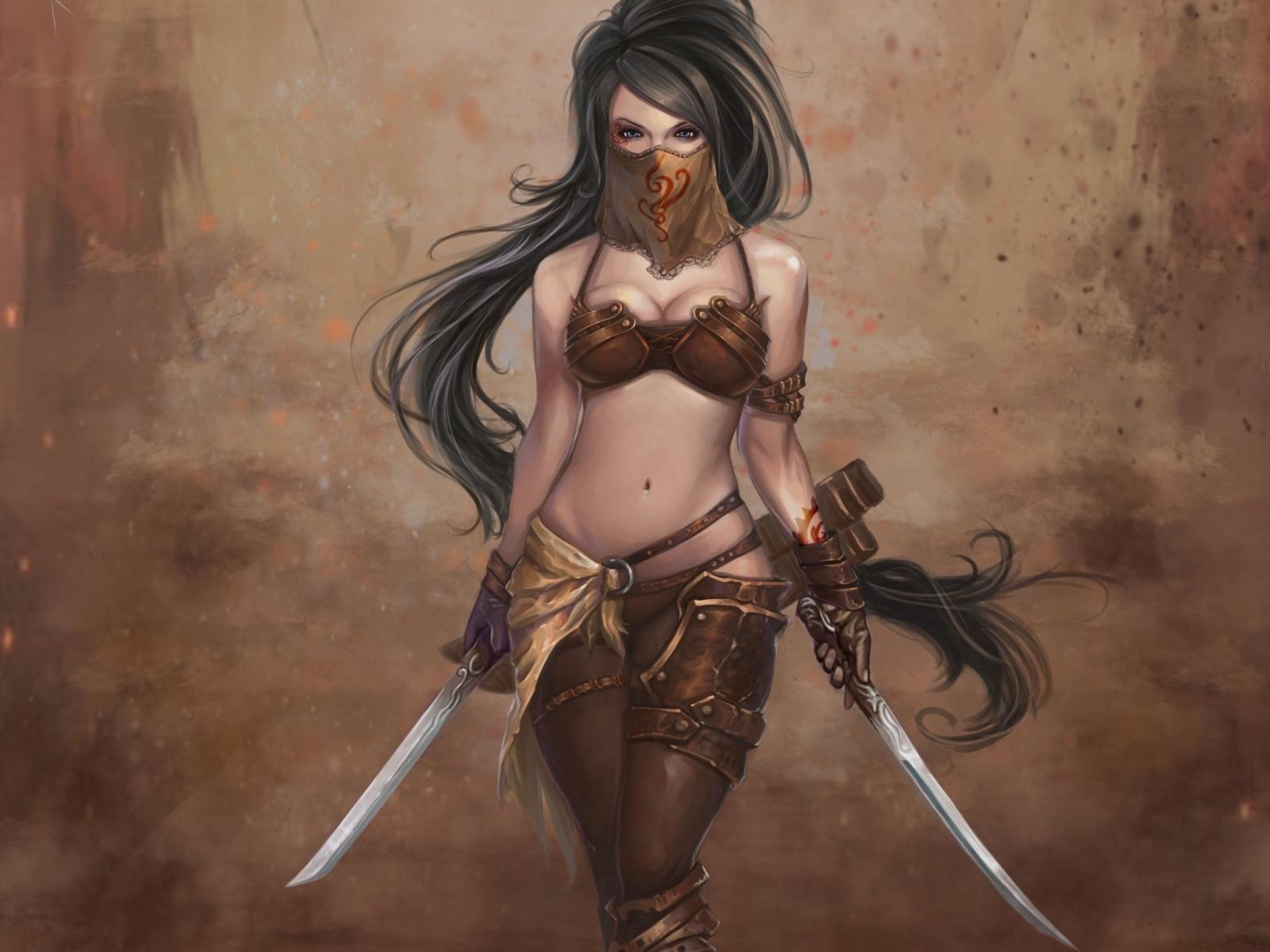 обои Девушка, персонаж, игра, воин картинки фото