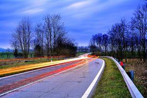 Заставки дорога, поле, закат