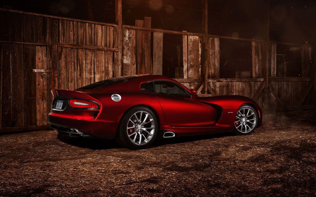 Фото бесплатно Dodge Viper, вишневый - на рабочий стол