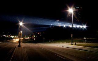 Бесплатные фото ночь,улица,дорога,перекресток,фонари,свет,дома