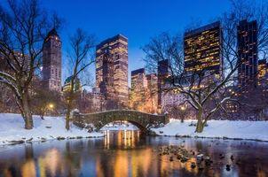 Фото бесплатно Центральный парк, Нью-Йорк, вечер