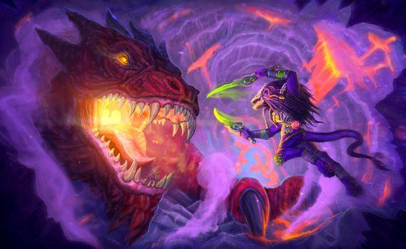 Фото бесплатно дракон, монстр, фантастика