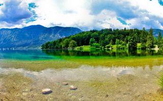 Фото бесплатно озеро, прозрачное, дно