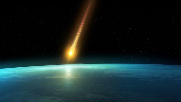 Фото бесплатно планета, орбита, метеорит