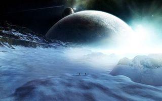 Бесплатные фото космос,планеты,поверхность,горы,лед,люди