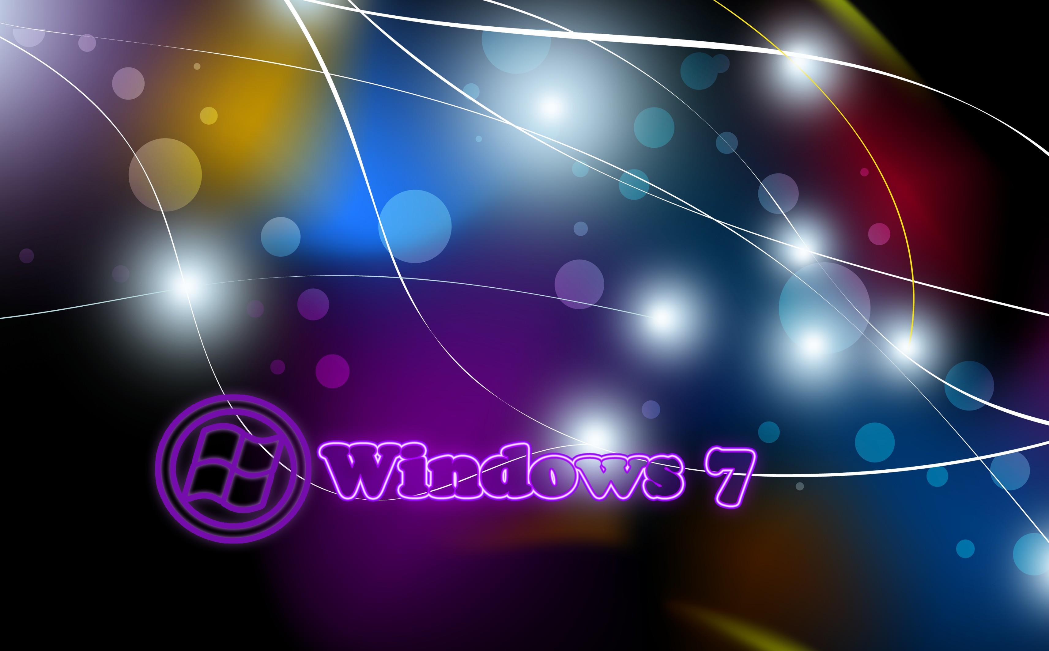 Обои обои на пк, windows 7, абстракция