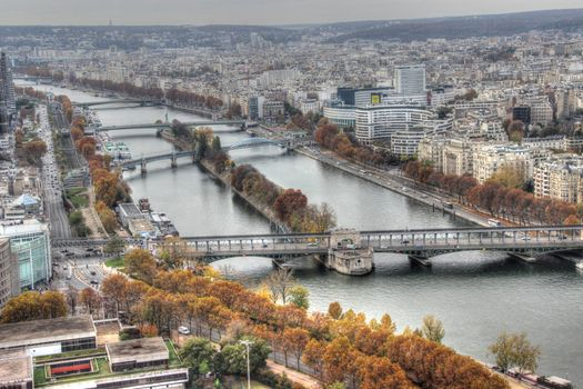 Photo free view from the top, city, Paris
