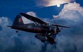 Фото бесплатно самолет старый, облака, крылья