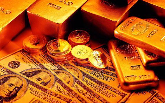 Бесплатные фото монеты,слитки,золото,доллары,баксы
