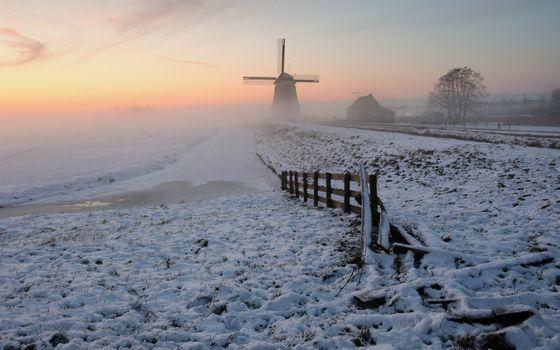 Photo free winter, field, plowing