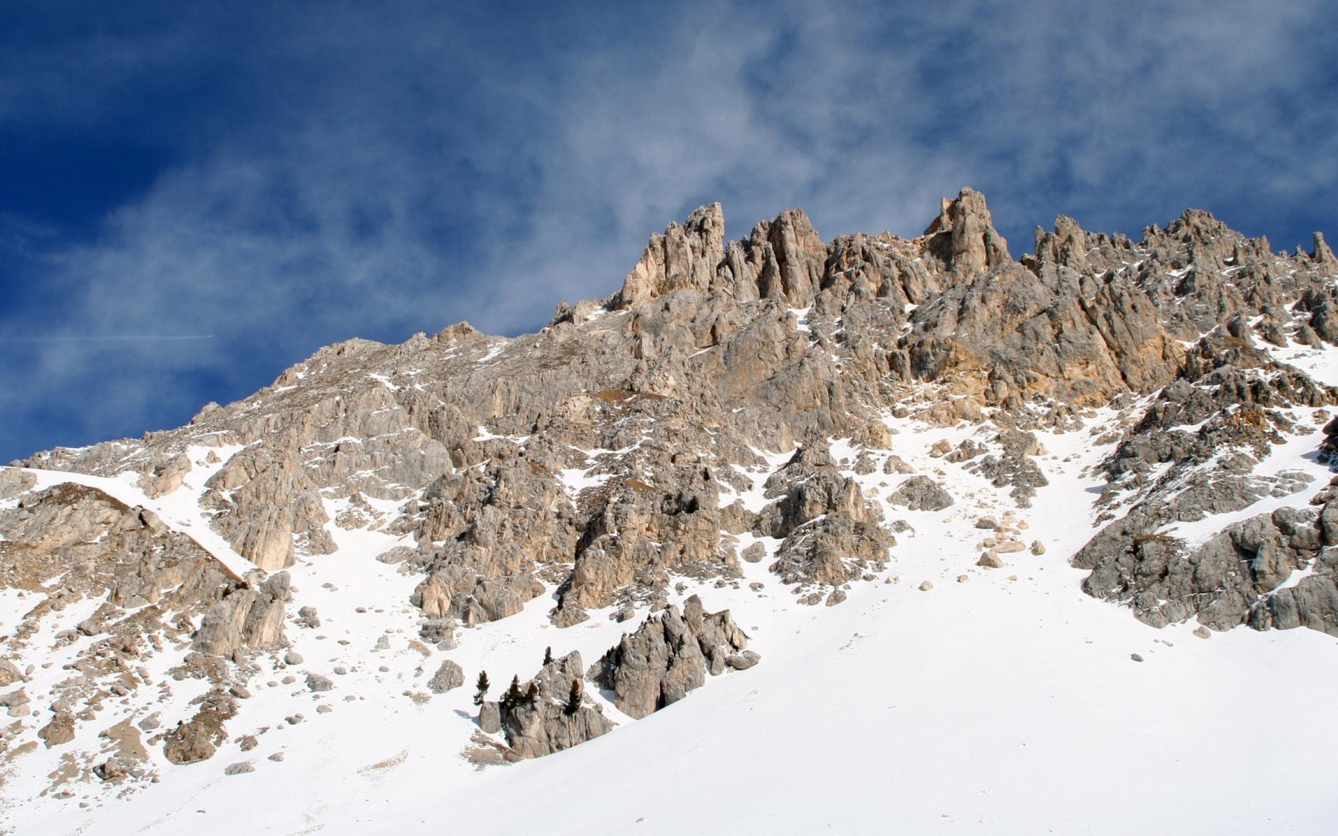 горы камни снег зима  № 2512941  скачать