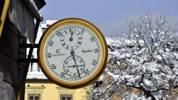 Бесплатные фото городские часы,стрелки,зима,снег