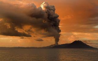 Заставки море, остров, вулкан