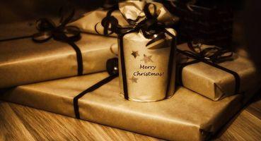 Бесплатные фото подарки, ленты, бумага, коричневый