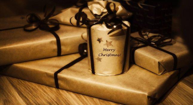 Фото бесплатно подарки, ленты, бумага