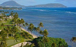 Бесплатные фото тропики,побережье,курорт,пальмы,море,горы