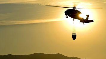 Бесплатные фото вертолет, пожарный, винты, полет, корзина, небо