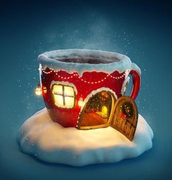 Фото бесплатно фон Рождество, дома кружка, новогоднее настроение