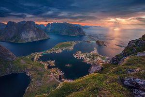 Бесплатные фото Lofoten Islands,Norway,Лофотенские острова,Норвегия,закат