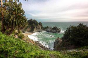 Фото бесплатно Mckway Falls, Big Sur, California