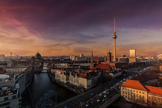 Фото бесплатно панорама, германия, столица