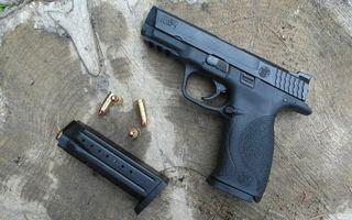 Photo free pistol, cartridges, shutter