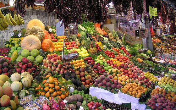 Заставки базар, прилавки, фрукты