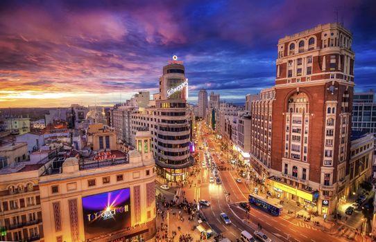 Photo free View of Plaza de Callao, Madrid, Spain