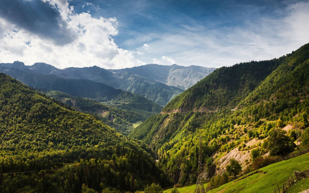 Фото бесплатно горы, ущелье, трава - на рабочий стол
