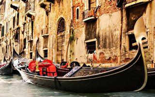 Фото бесплатно Венеция, канал, гондолы