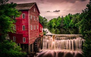 Бесплатные фото Dells Mill,Augusta,Wisconsin,Аугуста,Висконсин,водяная мельница,мельница