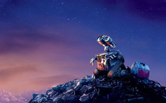 Photo free robot valley, the sky, the stars