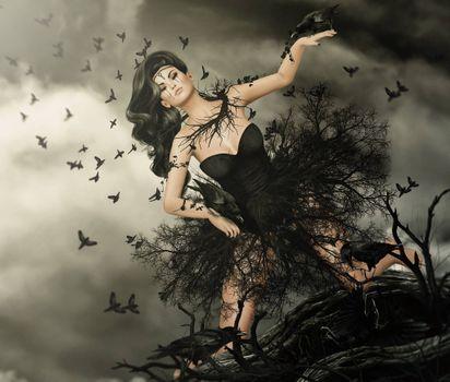 Фото бесплатно арт, фэнтези девушка, креатив
