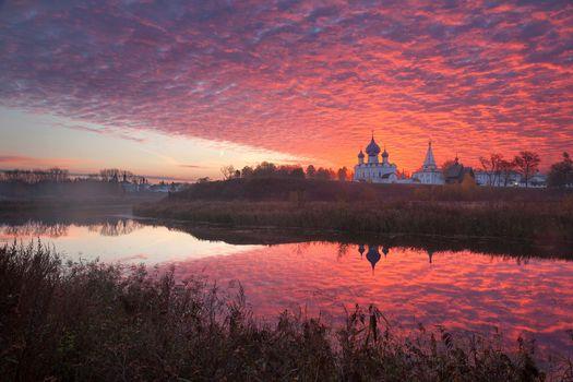Photo free temple, sunset, landscapes