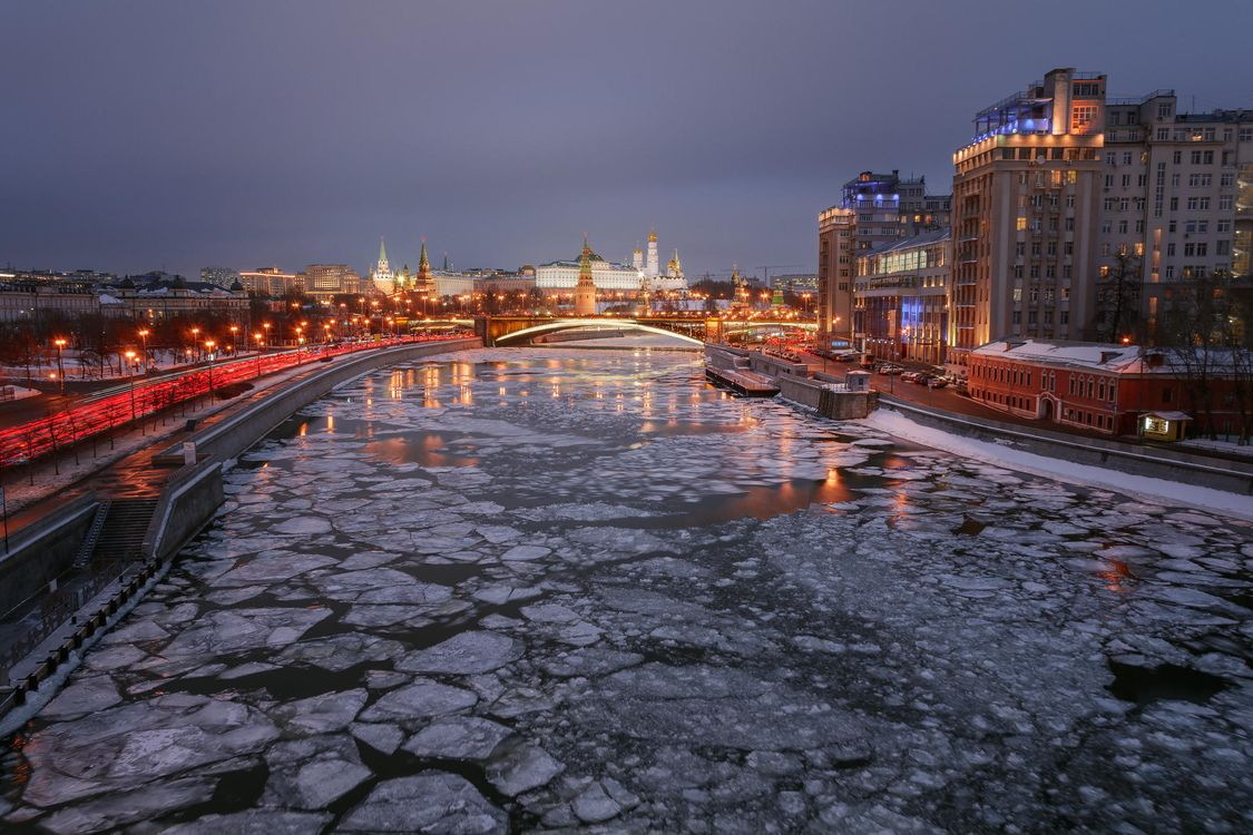 Free photo Moscow, Moscow-City, Moscow-river - to desktop