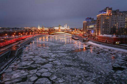 Фото бесплатно Москва, Москва-Сити, Москва-река
