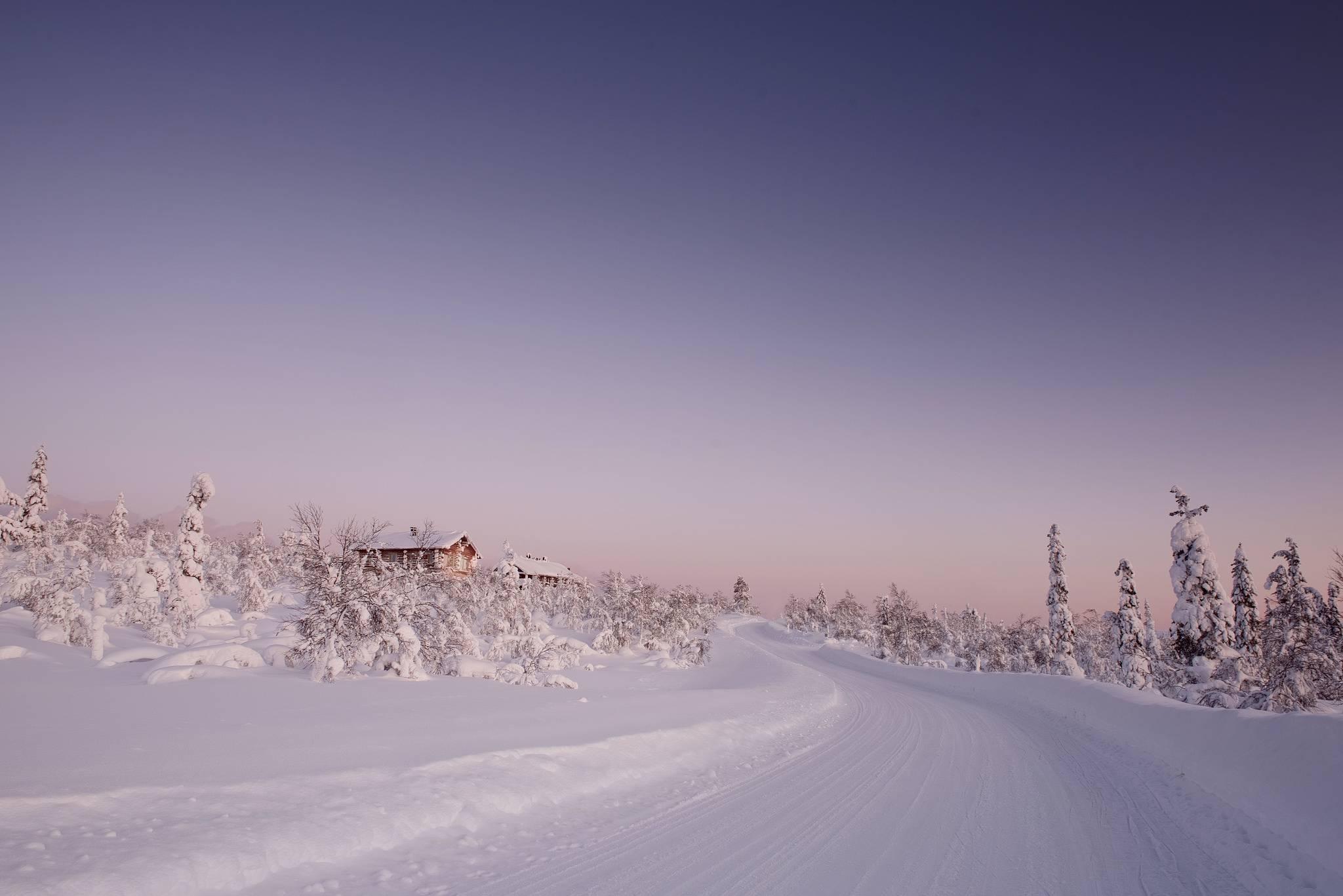 Лапландия, Финляндия, зима