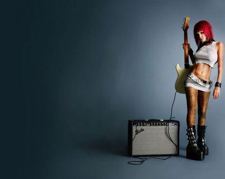 Фото бесплатно гитаристка, электрогитара, музыка