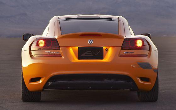 Фото бесплатно додж, спорткар, оранжевый