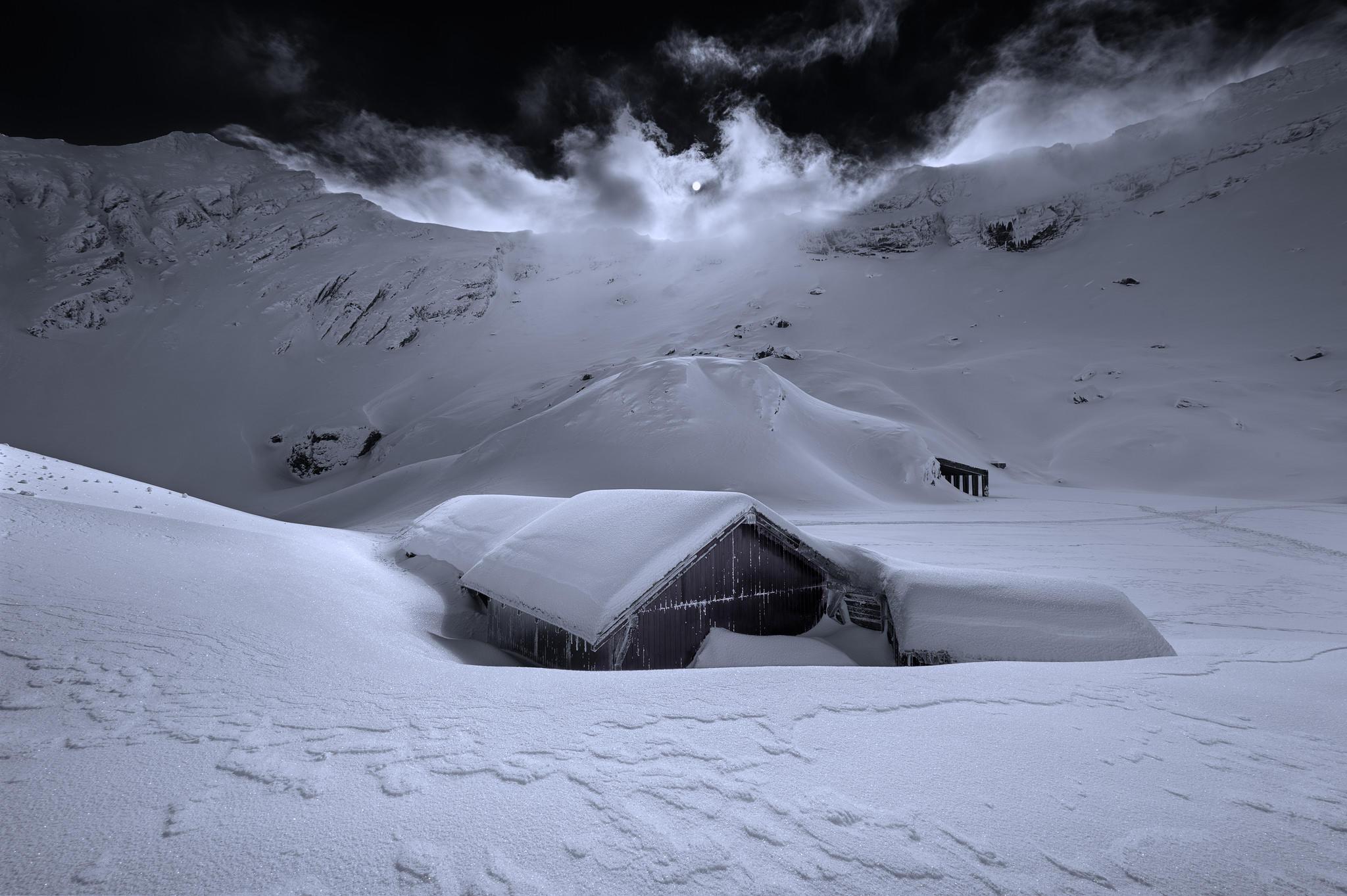 Обои Fagaras massif, Romania, зима, горы