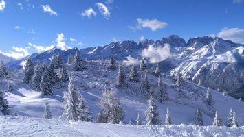 Бесплатные фото Dolomiti del Brenta, Доломити-ди-Брента, Италия, зима, горы, пейзаж