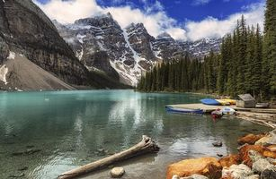 Фото бесплатно Moraine Lake, Banff National Park, Alberta