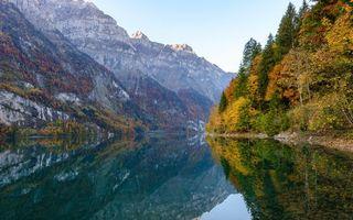 Photo free lake, mountains, autumn