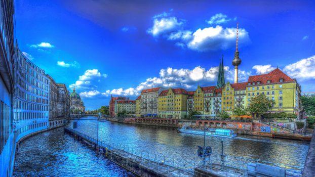 Бесплатные фото Берлин,Германия,город,hdr