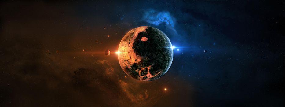 Заставка космос, планеты на рабочий стол