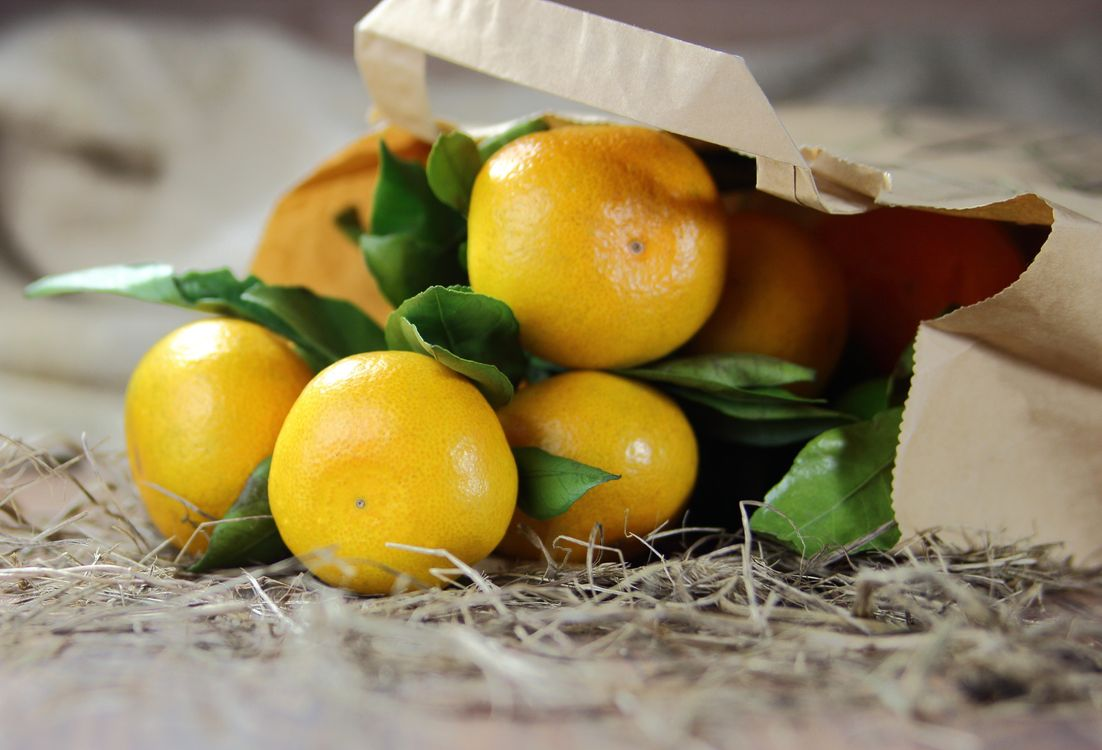 Фото бесплатно цитрусовые, мандарины, фрукты, еда